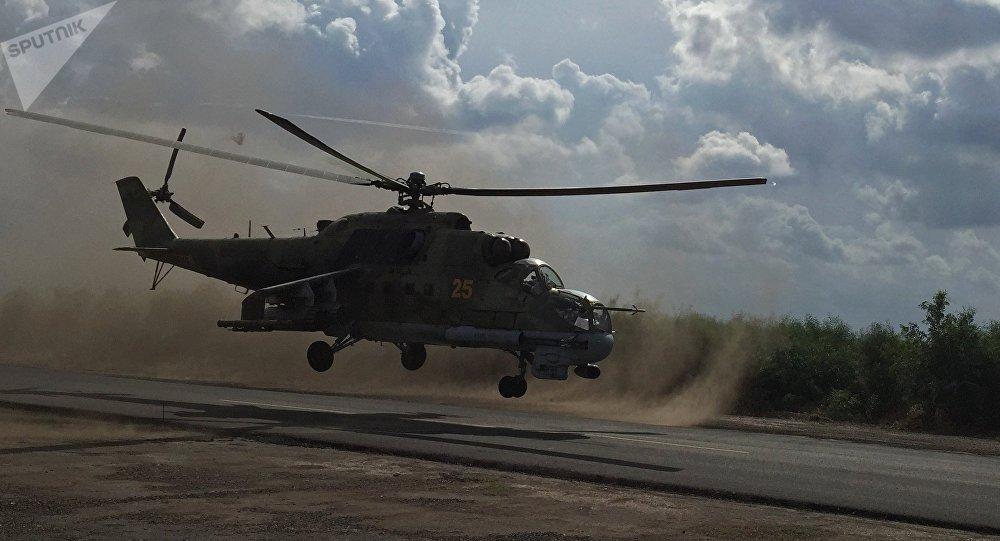Un helicóptero ruso Mi-24