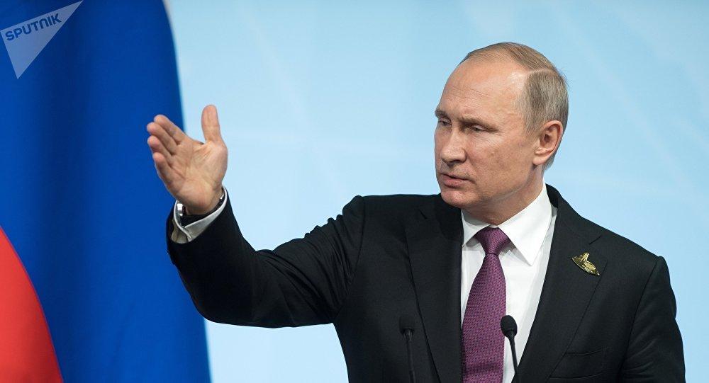 El presidente ruso Vladímir Putin en la cumbre G20, Hamburgo
