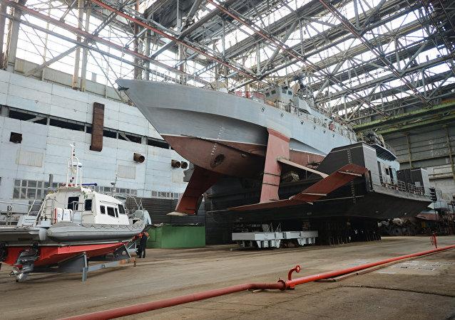 Un barco hidroala ruso (imagen referencial)