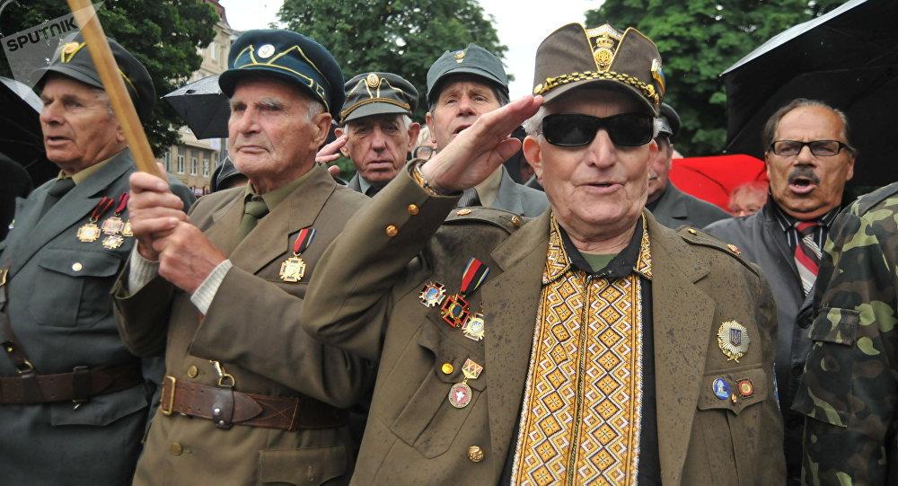 Veteranos del Ejército Insurgente Ucraniano (archivo)