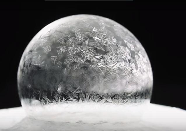 Una burbuja congelada