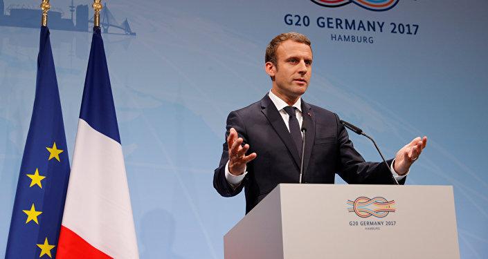 Emmanuel Macron en la cumbre del G20