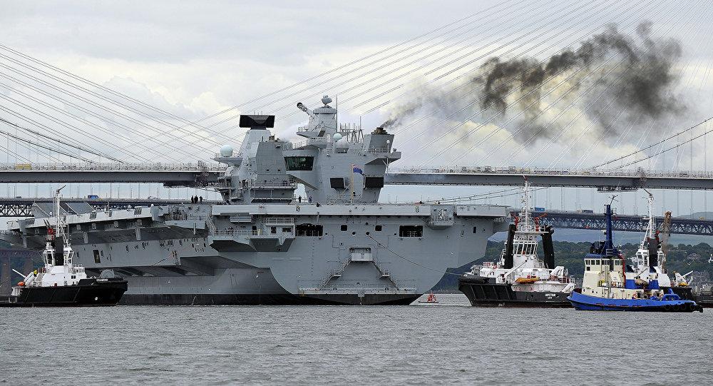 El portaviones británico Queen Elizabeth