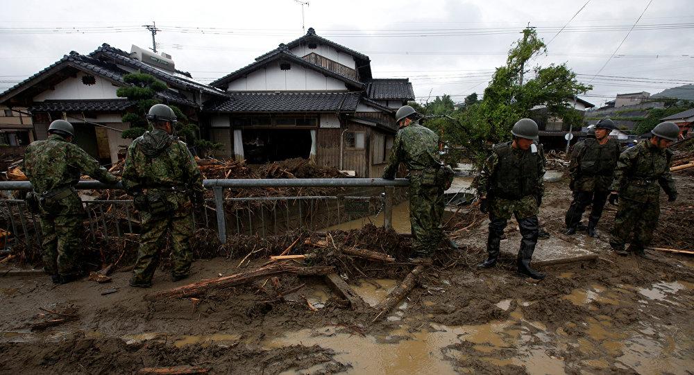 Consecuencias de fuertes lluvias en Japón