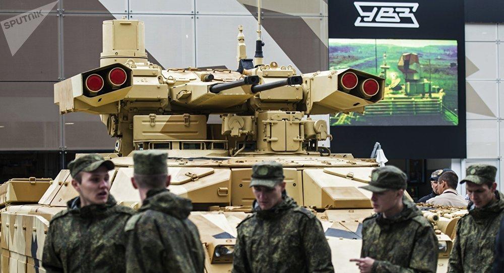 Vehículo de apoyo de fuego ruso BMPT-72 Terminator-2