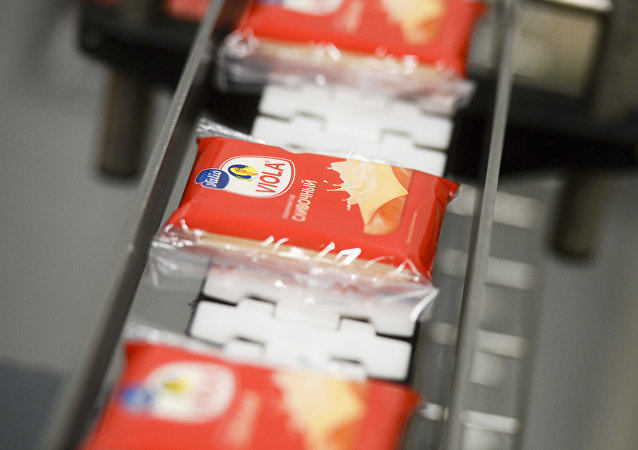 La producción del queso Viola de la empresa finlandesa Valio en Rusia