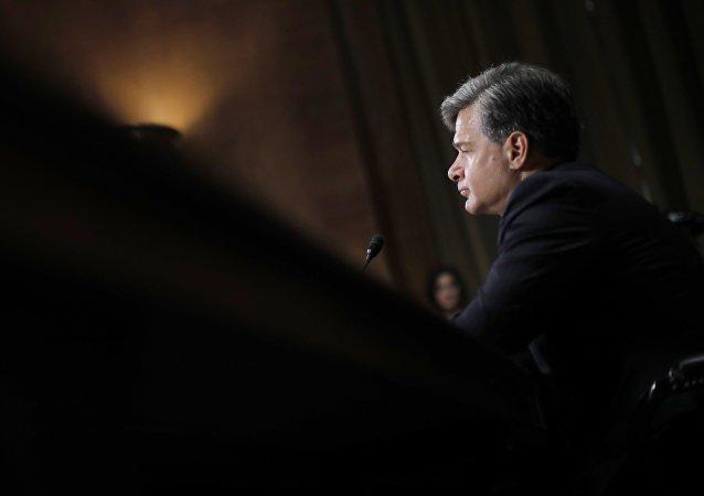 El candidato a la presidencia del FBI, Christopher Wray, durante una intervención ante el Senado