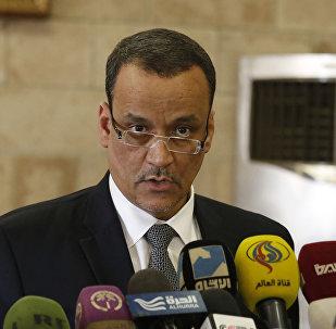 Ismail Ould Cheikh Ahmed, enviado especial de las Naciones Unidas para Yemen