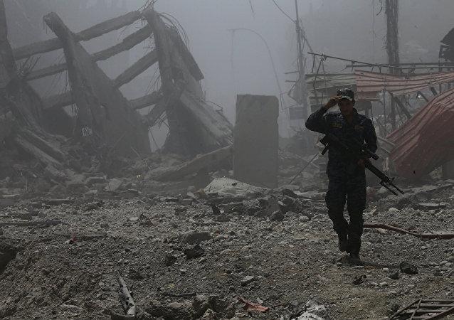 Un policía iraquí en Mosul (archivo)