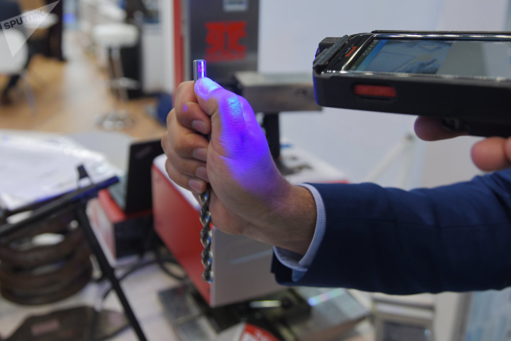 Ejemplo de broca marcada mediante la tecnología patentada de Almaz-Antey