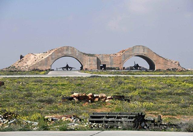 La base aérea de Shairat en Siria (archivo)