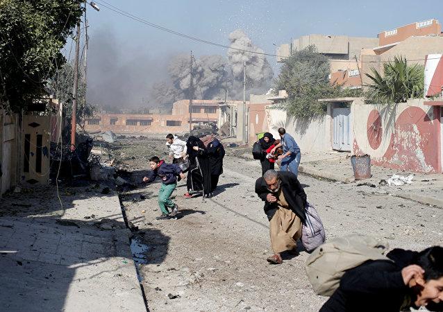 Combates en Mosul, Irak