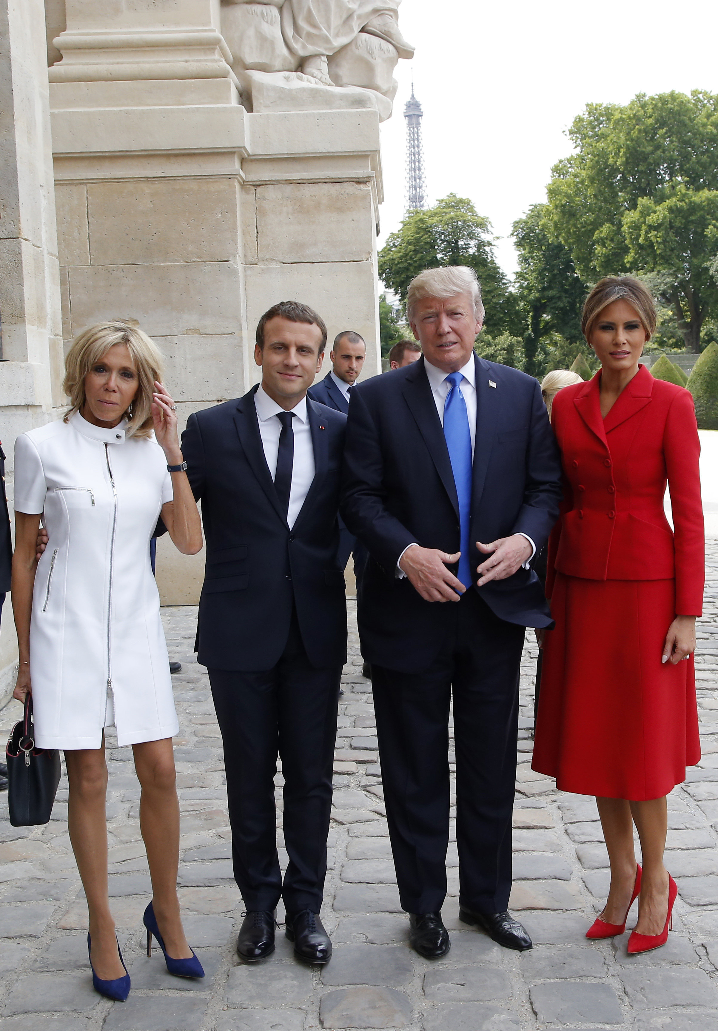 Brigitte Macron, esposa del presidente francés, Emmanuel Macron