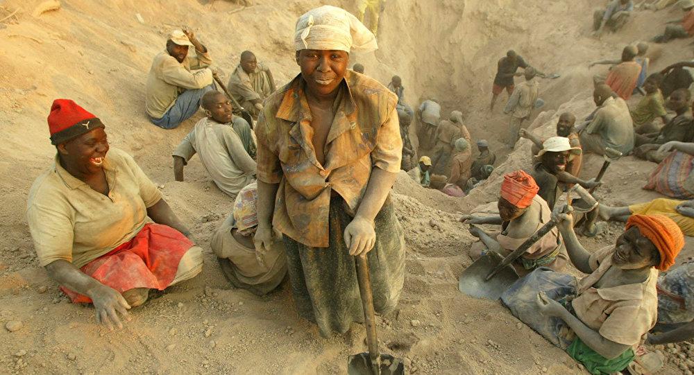 Extracción de diamantes en Zimbabue