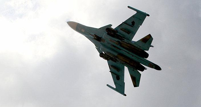 Avión Su-34 de las Fuerzas Aeroespaciales de Rusia en Siria (archivo)