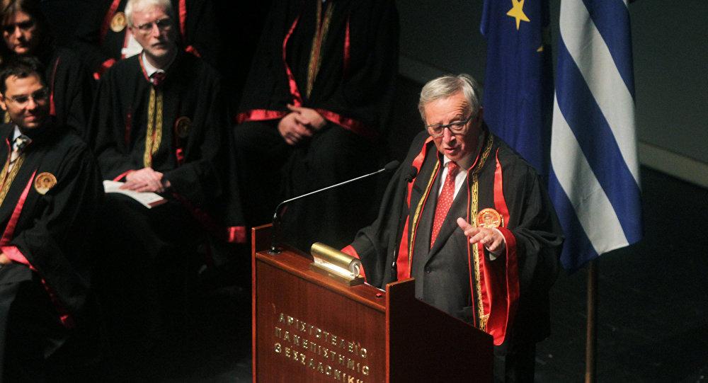 Presidente de la Comisión Europea, Jean-Claude Juncker, en la Universidad de Tesalónica