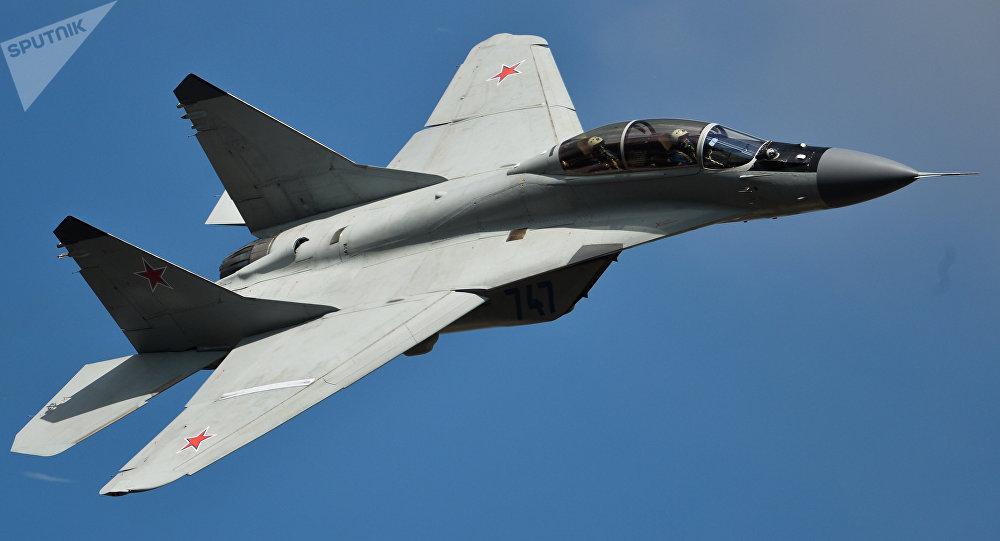 El caza MiG-35 en el salón aeroespacial MAKS-2015