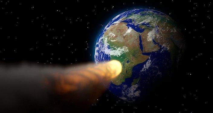 Un asteroide se dirige hacia la Tierra (imagen referencial)