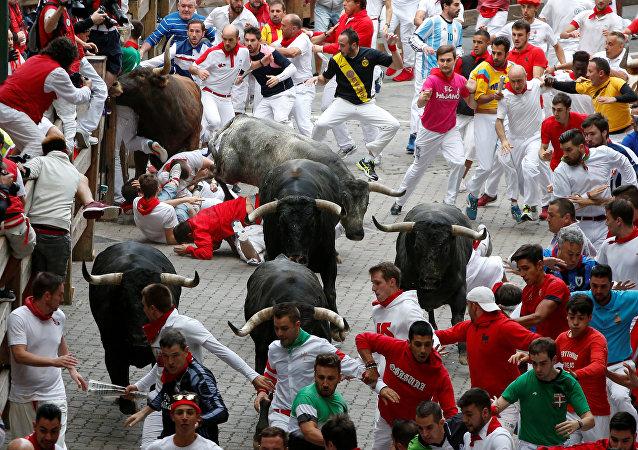 Fiesta de San Fermín en Pamplona, España