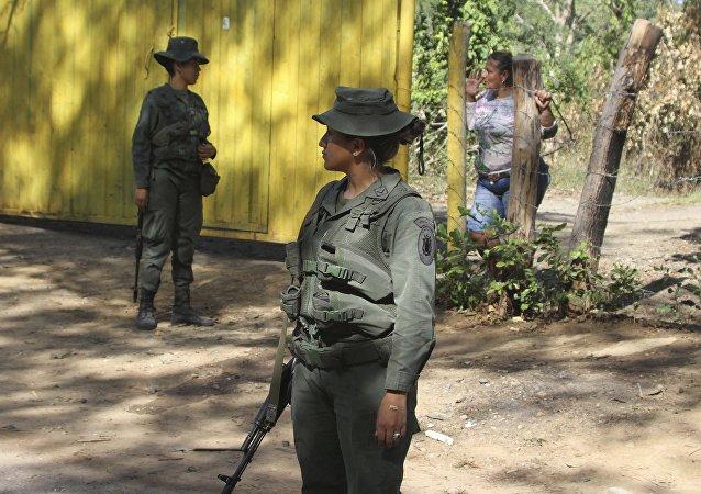 Policía venezolana en la frontera con Colombia (imagen referencial)