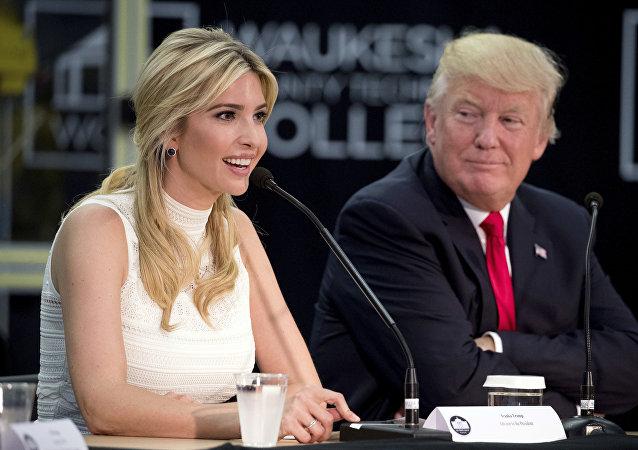 Donald Trump, presidente de EEUU, e Ivanka Trump, su hija