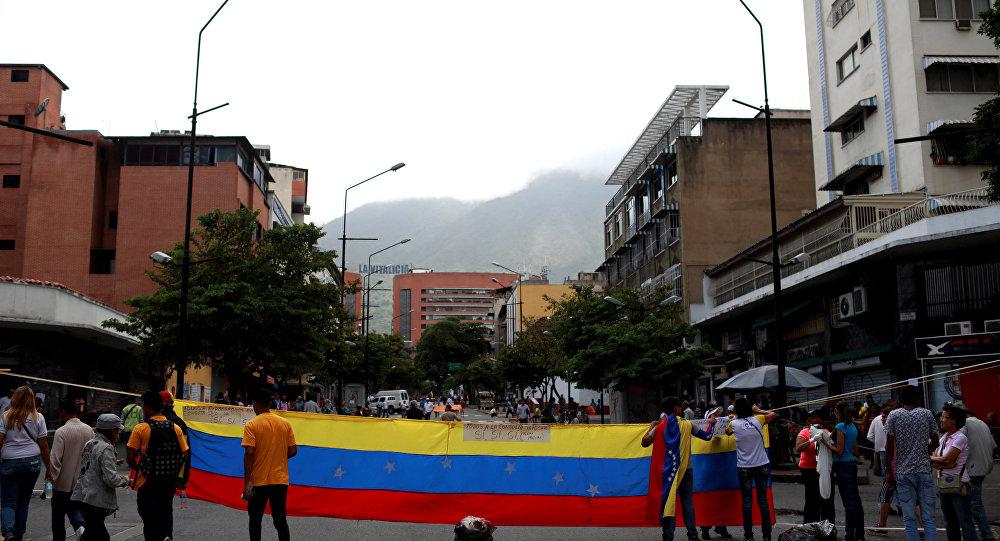 Protesta de la oposición en Caracas, Venezuela (archivo)