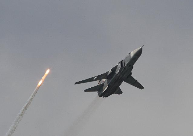 Un bombardero Su-24M