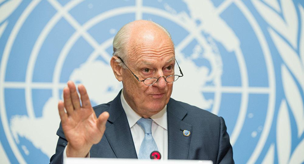 Staffan de Mistura, el enviado de la ONU para Siria (archivo)