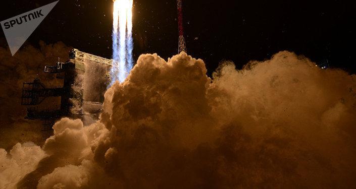 Lanzamiento de un cohete de la clase Angara