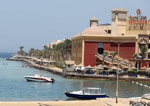La situación en Hurgada, Egipto