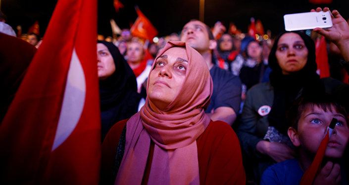 Los partidarios del presidente Tayyip Erdogan
