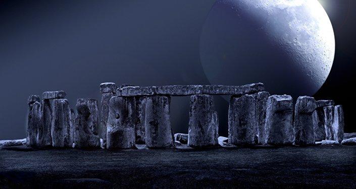 Stonehenge, monumento megalítico tipo crómlech (ilustración)