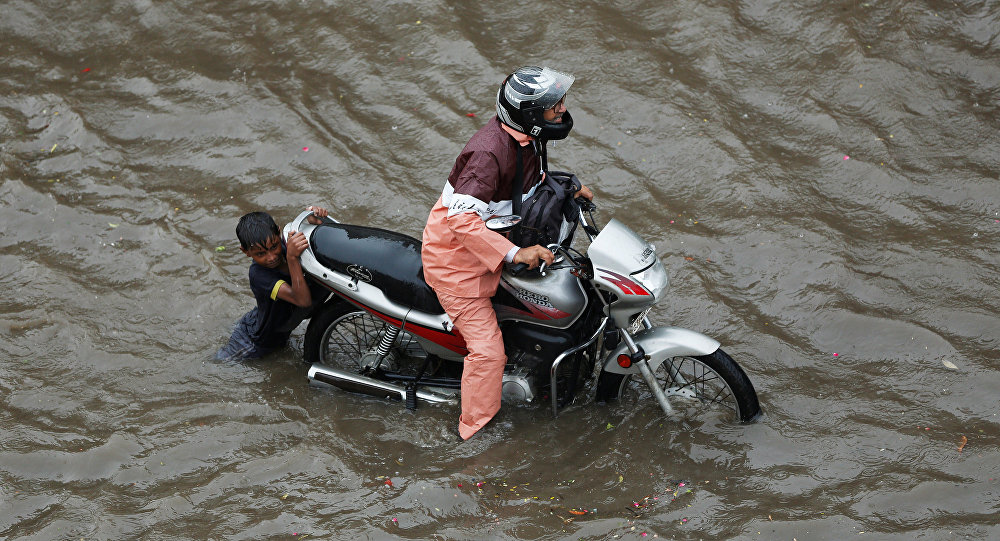 Inundación en la India (archivo)