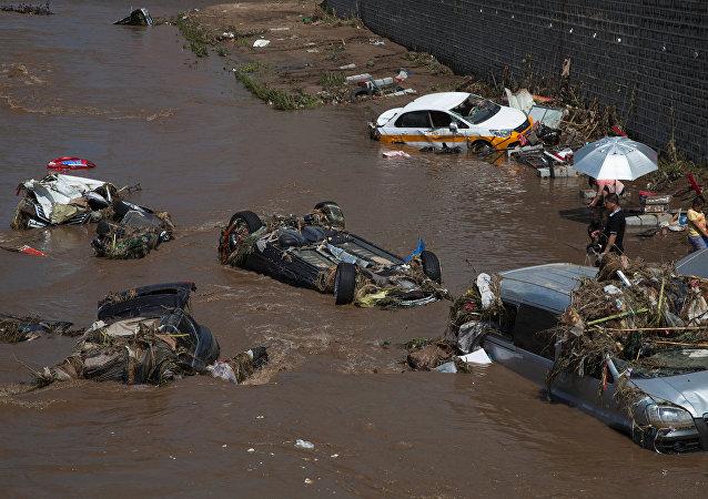 Consecuencias de las lluvias en la provincia de Jilin, China