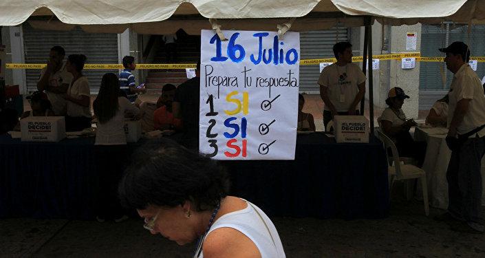 Consulta opositora en Venezuela
