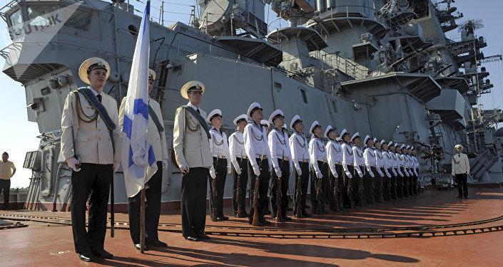 Crucero Piotr Veliki en Tartus, Siria (imagen referencial)