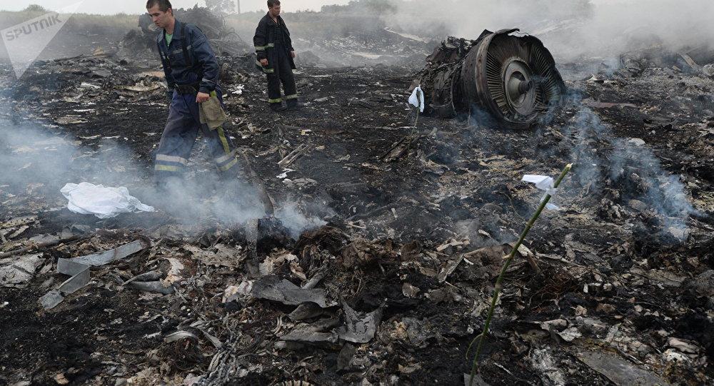 El lugar del siniestro del vuelo MH17 de Malaysia Airlines en Ucrania (archivo)