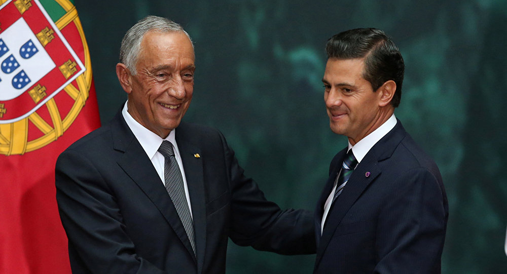 Presidente de Portugal realiza visita de Estado a México