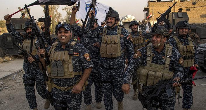 Policía Federal de Irak celebra la liberación de Mosul (imagen referencial)