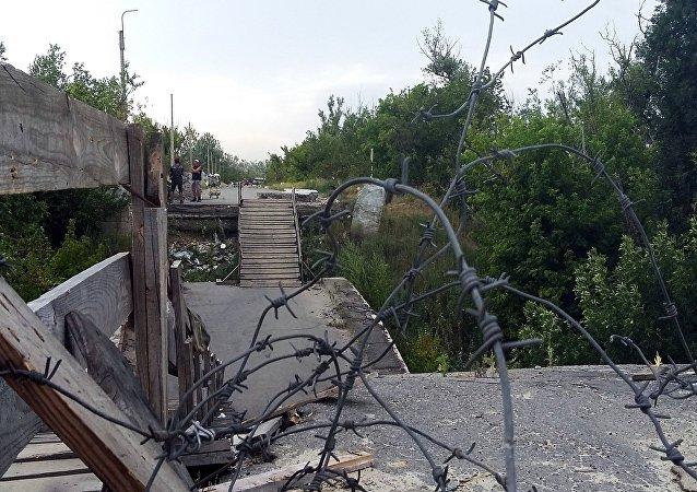 La localidad de Stanitsa Lugánskaya, Donbás