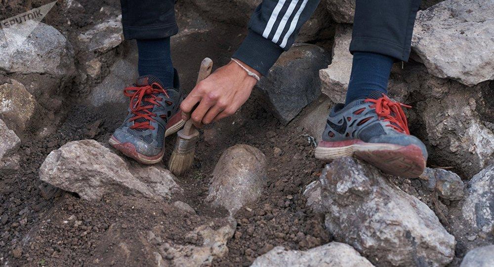 Un arquéologo (archivo)