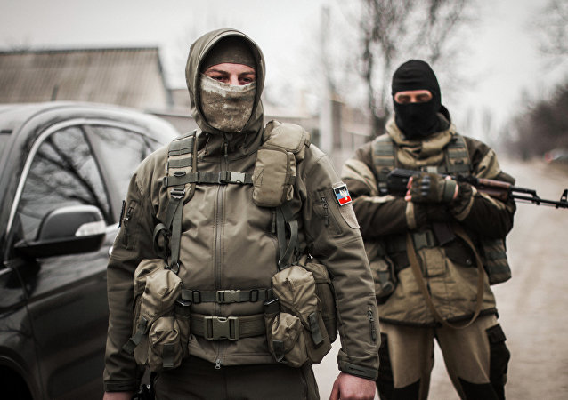 Milicianos de Donbás (archivo)