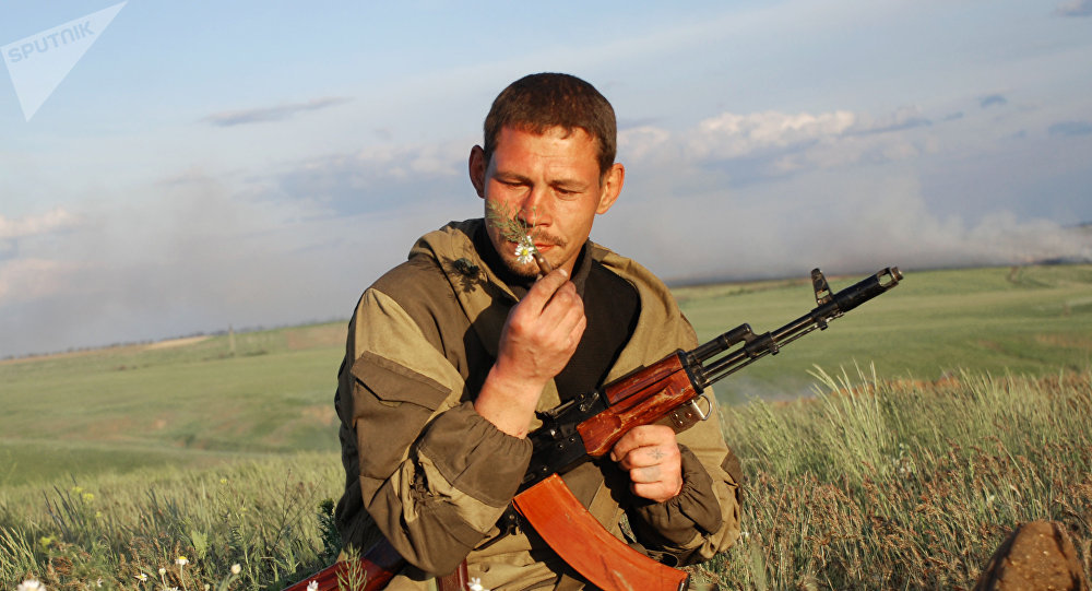 Miliciano de Donbás (archivo)