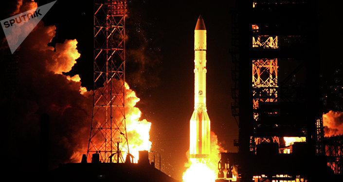 El cohete ruso pesado Proton-M (imagen referencial)