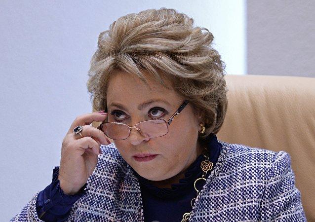 Valentina Matvienko, la presidenta del Senado ruso