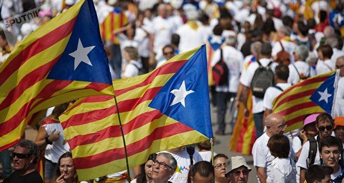 Independentistas se manifiestan en el Día de Cataluña [FOTOS]