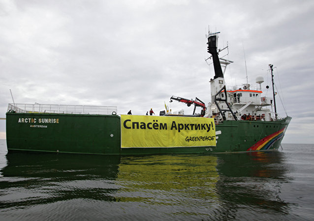El buque de Green Peace Arctic Sunrise (archivo)