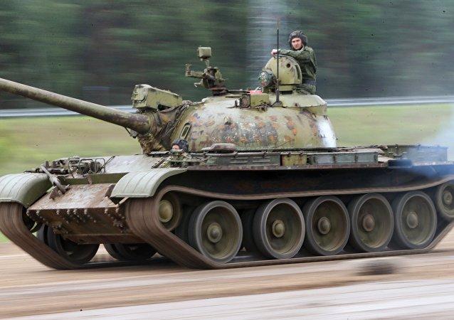 Un T-55 soviético, operado por el Ejército de Bielorrusia (imagen referencial)