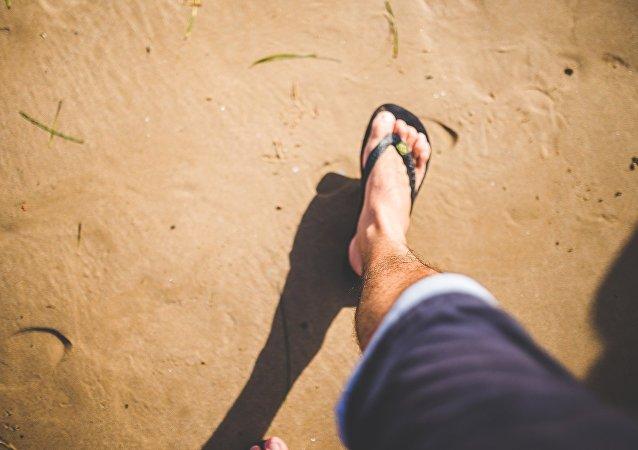 Una pierna de hombre (imagen referencial)