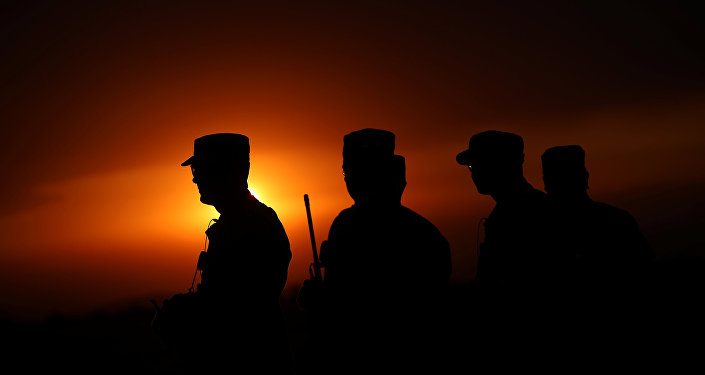 Militares estadounidenses durante las maniobras 'Saber Guardian'